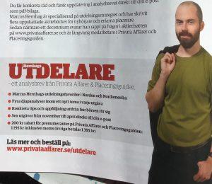 Utdelare Analysbladet Hernhags utdelningar