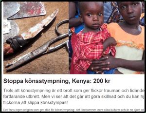 Könsstympning i Kenya #varjeflicka