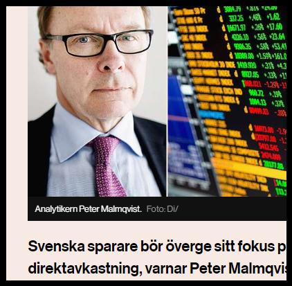 Peter Malmqvist i DI om utdelningsfällan