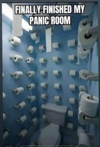 Coronaviruset och toapapper i badrummet
