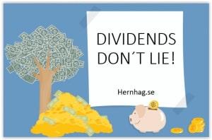 dividends dont lie - utdelningar ljuger inte