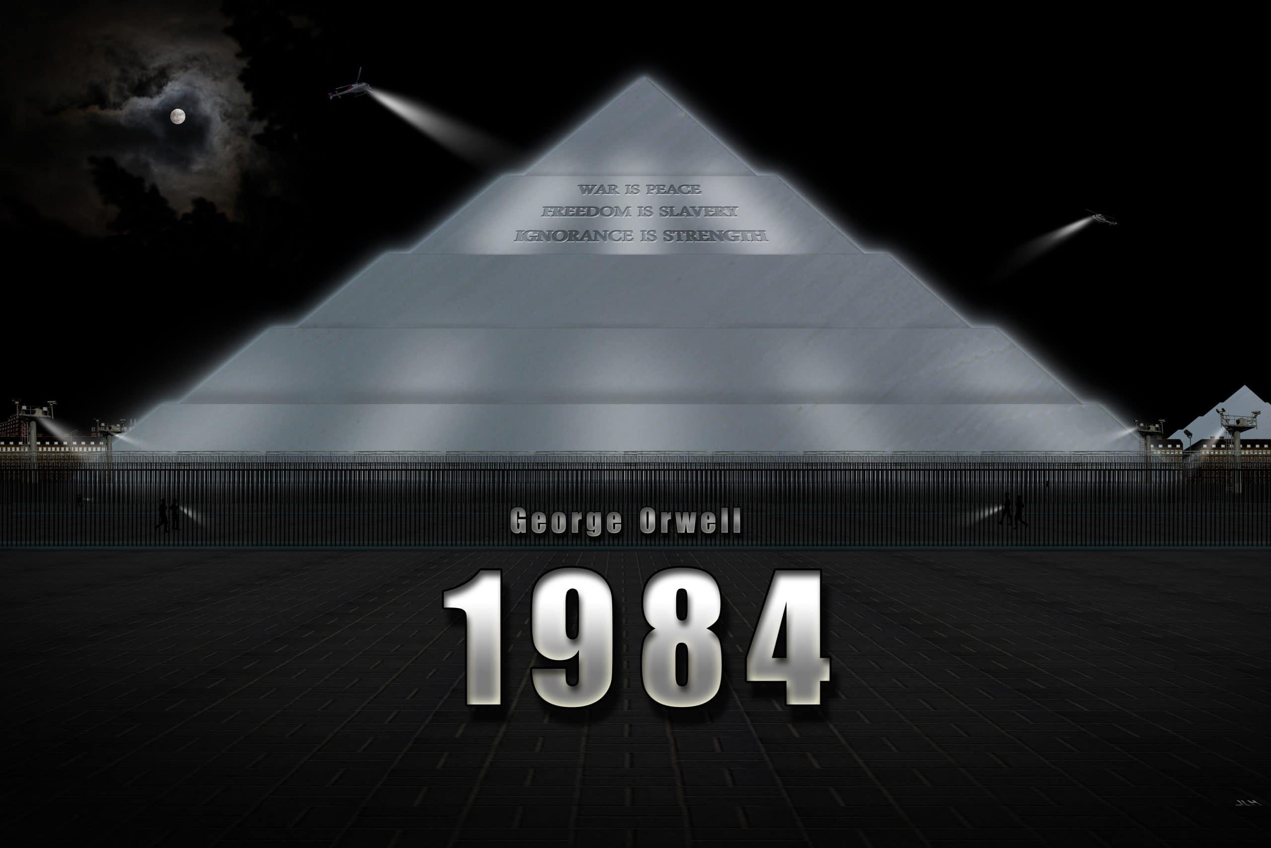 Bokrecension av 1984 av George Orwell och ett samhällsfokuserat blogginlägg om sanningen att om du kontrollerar orden kontrollerar du tanken.